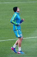 Javier Hernandez Chicharito of Bayern Leverkusen during the training before the match of Uefa Champions League between Atletico de Madrid and Bayern Leverkusen at Vicente Calderon Stadium  in Madrid, Spain. March 14, 2017. (ALTERPHOTOS / Rodrigo Jimenez)