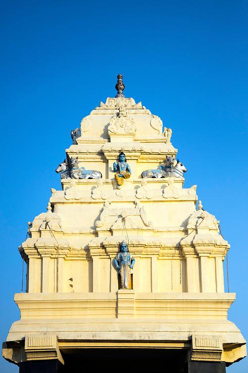KADIRI, INDIA - 04th November 2019 - Hindu temple architecture, Lalbagh Botanical Garden, Bangalore Bengaluru, Karnataka, India, South India