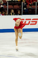 KELOWNA, BC - OCTOBER 25:  American figure skater Bradie Tennell competes at Skate Canada International in the ladies short program at Prospera Place on October 25, 2019 in Kelowna, Canada. (Photo by Marissa Baecker/Shoot the Breeze)