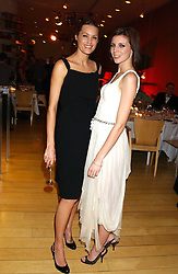 Left to right, YASMIN LE BON and LIBERTY ROSS at a Burns Night supper in aid of Clic Sargent & Children's Hospital Association Scotland hosted by Ewan McGregor, Sharleen Spieri and Lady Helen Taylor at St.Martin's Lane Hotel, 45 St Martin's Lane, London on 25th January 2006.<br />