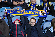 Young Dons Travel to Fratton, Prior the Sky Bet League 2 match between Portsmouth and AFC Wimbledon at Fratton Park, Portsmouth, England on 15 November 2015. Photo by Stuart Butcher.