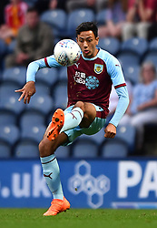 """Burnley's Dwight McNeil during a pre season friendly match at Deepdale, Preston. PRESS ASSOCIATION Photo. Picture date: Monday July 23, 2018. Photo credit should read: Antony Devlin/PA Wire. EDITORIAL USE ONLY No use with unauthorised audio, video, data, fixture lists, club/league logos or """"live"""" services. Online in-match use limited to 75 images, no video emulation. No use in betting, games or single club/league/player publications."""
