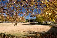 Fall Foliage Framing Eisenhower Memorial, Dwight D. Eisenhower Presidential Museum and Library, Abilene, Kansas