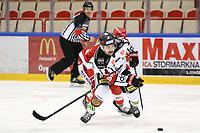 2020-03-06   Ljungby, Sverige: Bodens HF (4) Max Pålholm under matchen i Hockeyettan mellan IF Troja/Ljungby och Bodens HF i Ljungby Arena ( Foto av: Fredrik Sten   Swe Press Photo )<br /> <br /> Nyckelord: Ljungby, Ishockey, Hockeyettan, Ljungby Arena, IF Troja/Ljungby, Bodens HF, fstb200306, playoff, kval