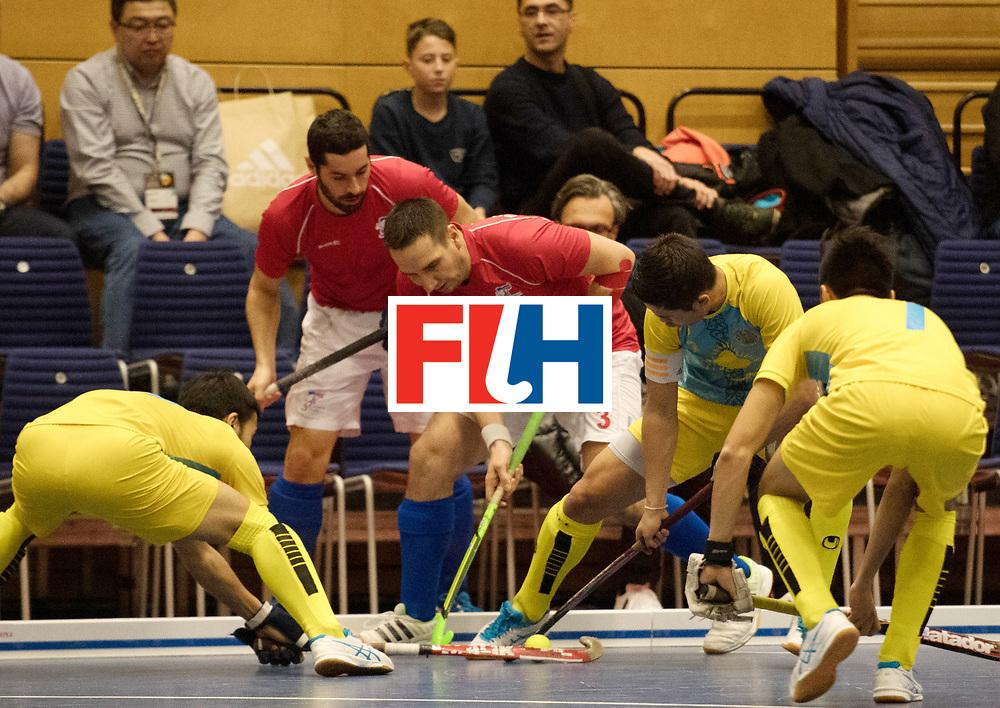 BERLIN - Indoor Hockey World Cup<br /> Kazachstan - Czech Republic<br /> foto: PERINKA Ales<br /> WORLDSPORTPICS COPYRIGHT FRANK UIJLENBROEK