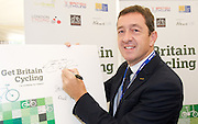 Chris Boardman and Mary Creagh MP at the Get Britain Cycling Campaign Breakfast meeting at the Labour Party Conference, Manchester, Great Britain <br /> 22nd September 2014 <br /> <br /> Chris Boardman <br /> <br /> <br /> <br /> Photograph by Elliott Franks <br /> Image licensed to Elliott Franks Photography Services