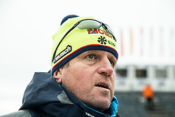 """Klemen Bergant, coach of Slovenia after the 1st Run of FIS Alpine Ski World Cup 2017/18 Men's Slalom race named """"Snow Queen Trophy 2018"""", on January 4, 2018 in Course Crveni Spust at Sljeme hill, Zagreb, Croatia. Photo by Vid Ponikvar / Sportida"""