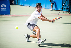 Jaime Fermosell Delgado (ESP) plays against Ilya Ivashka (BLR) at ATP Challenger Zavarovalnica Sava Slovenia Open 2017, on August 9, 2017 in Sports centre, Portoroz/Portorose, Slovenia. Photo by Vid Ponikvar / Sportida