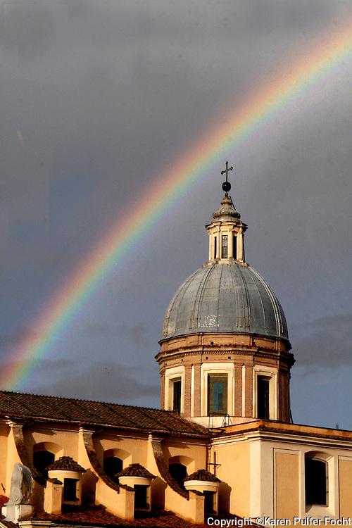 A rainbow in Rome, Italy.