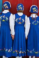 Local girls in Norwegian costume, Sons of Norway Hall, Petersburg, Southeast Alaska USA