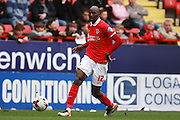 Charlton Athletic midfielder Alou Diarra during the Sky Bet Championship match between Charlton Athletic and Brighton and Hove Albion at The Valley, London, England on 23 April 2016. Photo by Bennett Dean.