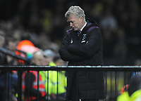 Football - 2017 / 2018 Premier League - Watford vs. West Ham United<br /> <br /> West ham new Manager,David Moyes turns his back on the game as the game slips away, at The London Stadium.<br /> <br /> COLORSPORT/ANDREW COWIE