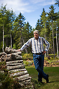Douglas Preston, bestselling author and outspoken opponent of Amazon.com's business practices, at his home in Round Pond, Maine on Tuesday, Sept 9, 2014.<br />