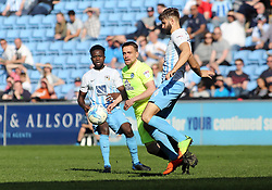 Paul Taylor of Peterborough United closes down Jordan Turnbull of Coventry City - Mandatory by-line: Joe Dent/JMP - 08/04/2017 - FOOTBALL - Ricoh Arena - Coventry, England - Coventry City v Peterborough United - Sky Bet League One