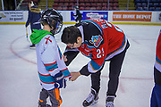 KELOWNA, CANADA - FEBRUARY 19:  Colum McGauley #23 of the Kelowna Rockets at the CIBC Family Skate with the Kelowna Rockets on February 19, 2018 at Prospera Place in Kelowna, British Columbia, Canada.  (Photo By Cindy Rogers/Nyasa Photography,  *** Local Caption ***