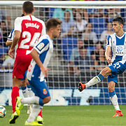 BARCELONA, SPAIN - August 18:  Marc Roca #21 of Espanyol in action during the Espanyol V  Sevilla FC, La Liga regular season match at RCDE Stadium on August 18th 2019 in Barcelona, Spain. (Photo by Tim Clayton/Corbis via Getty Images)