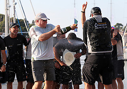 07.10.2012, Rovinj, CRO, Adris RC44 World Championship, Tag 5, im Bild Peninsula Petroleum's crew celebrate winning the 2012 RC44 sailing World Championship, // during day 5 of RC44 World Championship 2012 in Rovinj, Croatia on 2012/10/07. EXPA Pictures © 2012, PhotoCredit: EXPA/ Pixsell/ Jurica Galoic..***** ATTENTION - OUT OF CRO, SRB, MAZ, BIH and POL *****