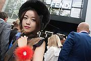 At Fendi fashion show during the annual Milan Fashion Week, Milan September 22, 2016.