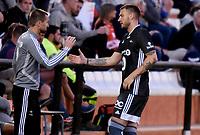 Fotball , 10. mars 2019 , Privatkamp , Brann - Rosenborg 1-0<br /> trener Eirik Horneland , RBK og Nicklas Bendtner , RBK