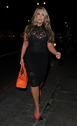 Lauren Goodger attends the ADONIS Hollywood Strip Tour - press launch at Club Aquarium in Old Street, London. UK. 17/09/2014<br />