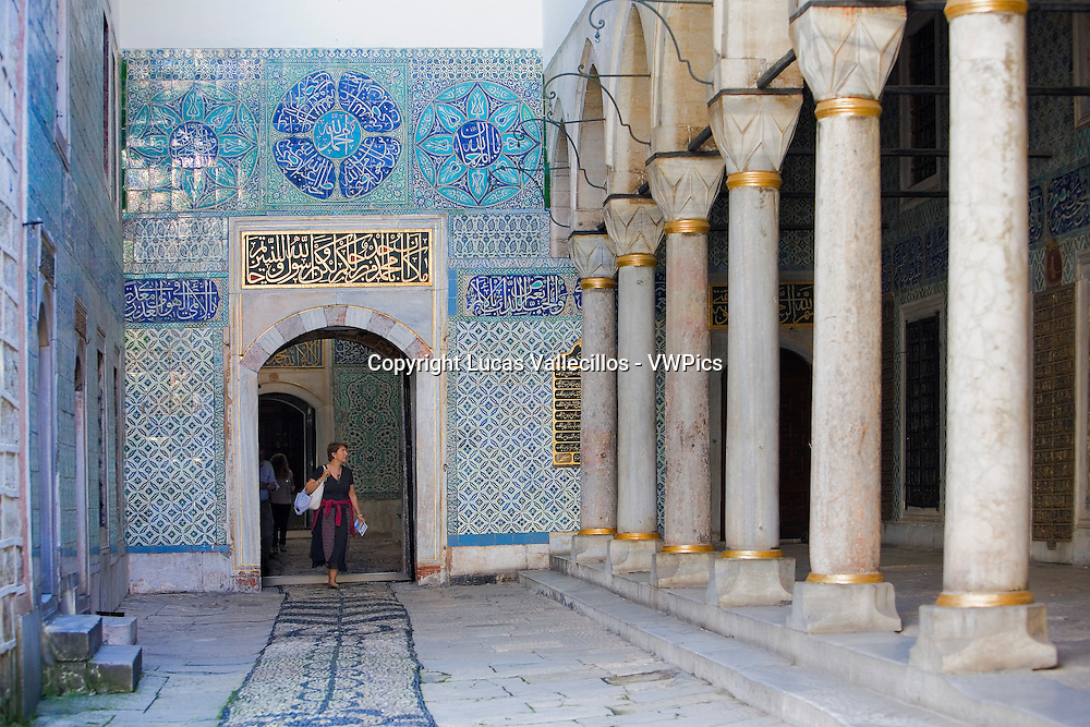 Topkapi Palace, Harem,Courtyard of  Eunuchs. Istanbul. Turkey