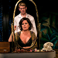 Sweet Bird of Youth by Tennessee Williams;<br /> Directed by Jonathan Kent;<br /> Marcia Gay Harden as The Princess Kosmonopolis aka Alexandra del Lago;<br /> Brian J. Smith as Chance Wayne;<br /> Chichester Festival Theatre, Chichester, UK ;<br /> 7 June 2017 ;<br /> Credit: Pete Jones / ArenaPal ;<br /> www.arenapal.com