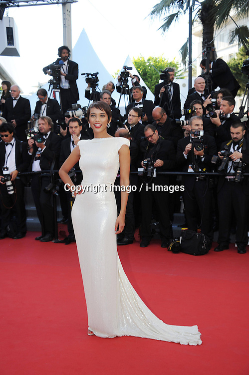 59698377 .Cansu Dere attends the premiere of 'The Immigrant' at The 66th Annual Cannes Film Festival on May 24, 2013..UK ONLY