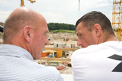Coach of NK Olimpija Brane Oblak and Sebastjan Cimerotic at open door day 1 year before opening of new football stadium and sports hall in Stozice,  on June 30, 2009, at Stadium Stozice, Ljubljana, Slovenia. (Photo by Vid Ponikvar / Sportida)