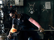 "Italy, Veneto, Canton, glassblowing factory ""Vetrofond"" producing lamps for Foscarini"