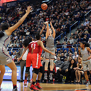 HARTFORD, CONNECTICUT- DECEMBER 19: Katie Lou Samuelson #33 of the Connecticut Huskies shoots for three during the UConn Huskies Vs Ohio State Buckeyes, NCAA Women's Basketball game on December 19th, 2016 at the XL Center, Hartford, Connecticut (Photo by Tim Clayton/Corbis via Getty Images)