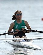 Poznan, POLAND.  2006, FISA, Rowing, World Cup, IRL  LW1X Orla  Hayes, moves  away from  the  start, on the Malta  Lake. Regatta Course, Poznan, Thurs. 15.05.2006. © Peter Spurrier   .[Mandatory Credit Peter Spurrier/ Intersport Images] Rowing Course:Malta Rowing Course, Poznan, POLAND