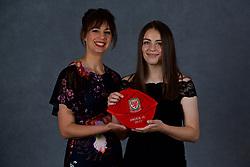 NEWPORT, WALES - Saturday, May 19, 2018: Anna Bebb and family during the Football Association of Wales Under-16's Caps Presentation at the Celtic Manor Resort. (Pic by David Rawcliffe/Propaganda)