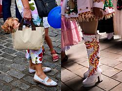 Barcelona, Catalunya, Spain.People on the streets during celebration.<br /> &copy;Carmen Secanella