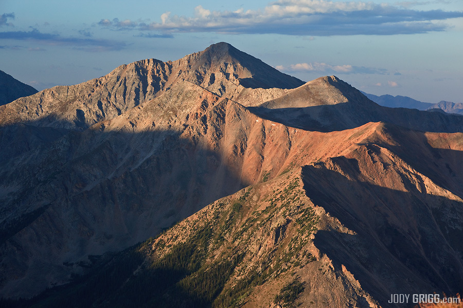 A fourteener in the Sawatch Range of Colorado.