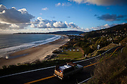 Highway 1 winds its way past Stinson Beach, Calif., December 12, 2012.