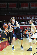Shawnee's Sean Heine (24) tries to make a pass as Linden's Joey Krempa (2) defends in the fourth quarter of the New Jersey Group 4 State Championship game Sunday March 12, 2017 at Rutgers University in Piscataway, New Jersey. (Photo by William Thomas Cain)