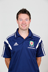 CARDIFF, WALES - Wednesday, September 24, 2014: Wales' physiotherapist Dyfri Owen. (Pic by David Rawcliffe/Propaganda)