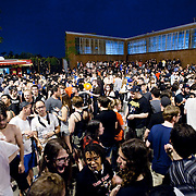 July 29, 2011 - Brooklyn, NY : Concertgoers pack the outdoor courtyard at the House of Vans at 25 Franklin Street in Greenpoint, Brooklyn on Friday night, between sets. CREDIT: Karsten Moran for The New York Times