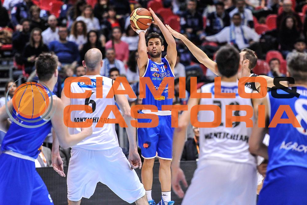 DESCRIZIONE : Final Four Coppa Italia DNB IG Cup RNB Rimini 2015 Finale BCC Agropoli - Contaldi Castaldi Montichiari<br /> GIOCATORE : Antonio Spinelli<br /> CATEGORIA : Tiro Tre Punti<br /> SQUADRA : BCC Agropoli<br /> EVENTO : Final Four Coppa Italia DNB IG Cup RNB Rimini 2015<br /> GARA : BCC Agropoli - Contaldi Castaldi Montichiari<br /> DATA : 08/03/2015<br /> SPORT : Pallacanestro <br /> AUTORE : Agenzia Ciamillo-Castoria/L.Canu