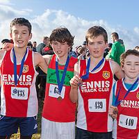Clare U13 boys finalists Sabian Kulczynski (Ennis Track), Ben Whelehan (Kilmurry Ibrickane N Clare), Mark Hanrahan (Ennis Track) and Dylan Casey (Ennis Track)