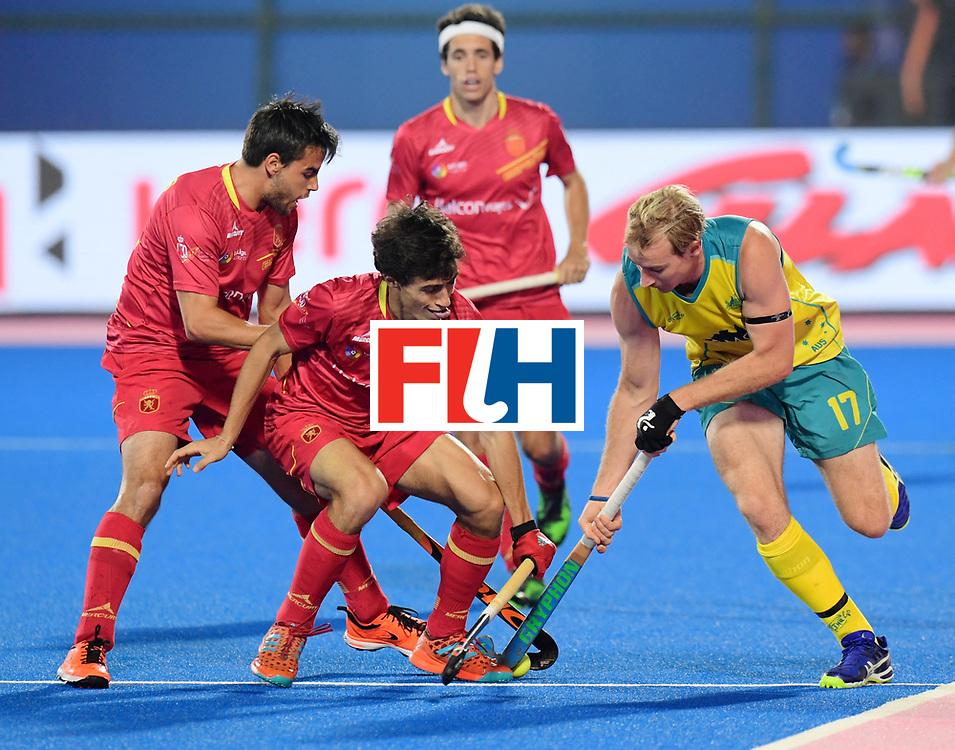 Odisha Men's Hockey World League Final Bhubaneswar 2017<br /> Match id:15<br /> Spain v Australia<br /> Foto: Aran Zalewski (Aus) <br /> COPYRIGHT WORLDSPORTPICS FRANK UIJLENBROEK