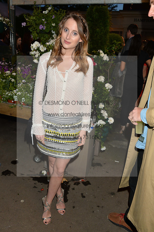 ROSIE FORTESCUE at a party to celebrate the launch of the Taylor Morris Eyewear's Summer Collection held at The Chelsea Gardner, 125 Sydney Street, London on 20th May 2015.