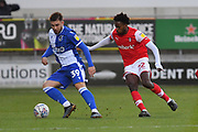 Rotherham United player Matthew Olosunde (22) and Bristol Rovers midfielder Josh Barrett (39)  during the EFL Sky Bet League 1 match between Rotherham United and Bristol Rovers at the AESSEAL New York Stadium, Rotherham, England on 18 January 2020.