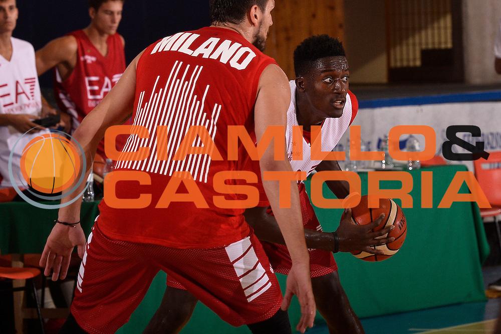 Awudu Abass <br /> EA7 Emporio Armani Olimpia Milano allenamento <br /> Lega Basket Serie A 2016/2017<br /> Bormio 26/08/2016<br /> Foto Ciamillo-Castoria