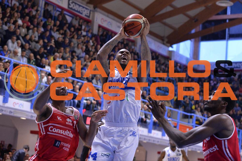 M'Baye Amath<br /> Enel Brindisi - Consultinvest pesaro<br /> Legabasket serieA  2016/2017<br /> Brindisi 09/04/2017<br /> Foto Ciamillo-Castoria