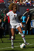 USA defender Casey Short (26) dribbles against South Korea during an international friendly in Chicago, Sunday, Oct. 6, 2019, in Chicago. USWNT tied the Korea Republic 1-1. (Max Siker/Image of Sport)