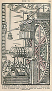 Reversible hoist for raising buckets from Georgius Agricola De re metallica, translated into English from the 1st Latin ed. of 1556, printed in London by The Mining magazine in 1912