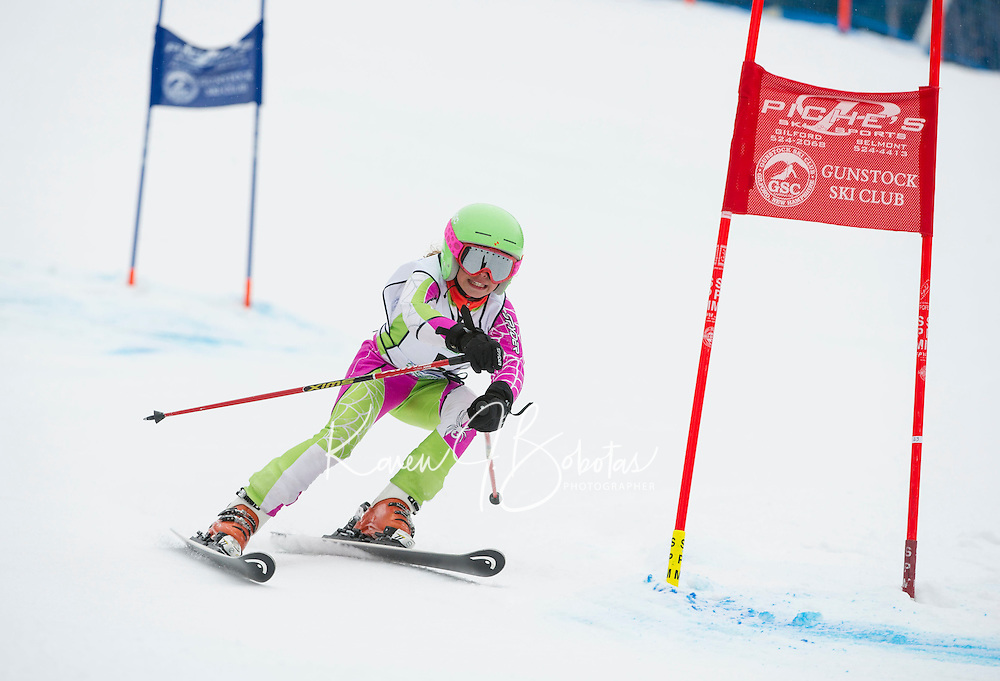 Francis Piche Giant Slalom Ladies U12 on Tiger Saturday, March 14, 2015.   ©2015 Karen Bobotas Photographer