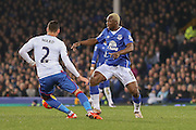 Everton forward Arouna Kone  during the Barclays Premier League match between Everton and Crystal Palace at Goodison Park, Liverpool, England on 7 December 2015. Photo by Simon Davies.