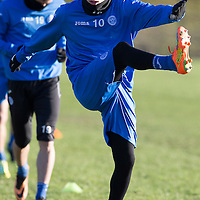 St Johnstone midfielder David Wotherspoon pictured in training after signing a new two year deal to keep him at McDiarmid Park....<br /> Picture by Graeme Hart.<br /> Copyright Perthshire Picture Agency<br /> Tel: 01738 623350  Mobile: 07990 594431